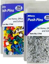 300 Pcs Push Pin Pins Thumb Tack Multi Color 38 Head For Office School Home