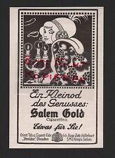 DRESDEN, Werbung 1912, Orient. Tabak-Zigaretten-Fabrik Yenidze Salem Gold