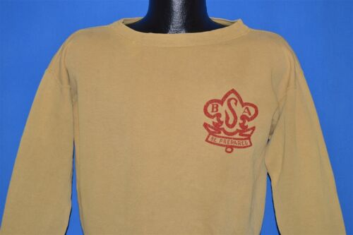 vintage 40s BOY SCOUTS OF AMERICA BSA LOGO CREWNEC