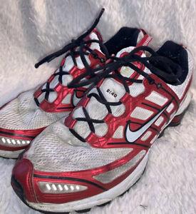 NIKE-SHOX-2-40-Mens-Sz-12-Zoom-Air-Running-Shoes-Red-White-Black-GUC