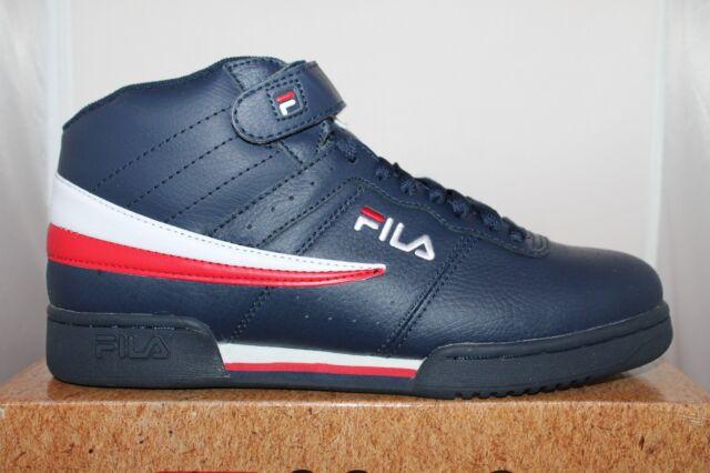 3a1d4de0a942 FILA Mens F-13v Lea syn Fashion Sneaker Navy white Red 13 M US for ...