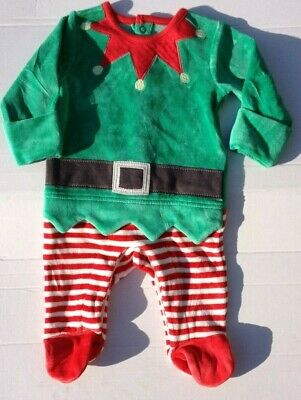 Pigiama elfo babbo natale baby suit