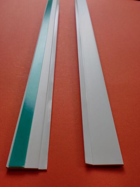 Abdeckleiste Flachleiste 10m 20-70mm- 2mm mit Gummilippe Kunststoffleiste weiß