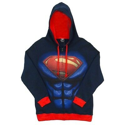 Superman I AM Costume MOS Man Of Steel Symbol Licensed Hoodie S-2XL