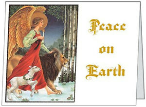 Your-Words-BUSINESS-PERSONAL-Angel-LION-LAMB-Peace-5-5x4-Christmas-CARDS
