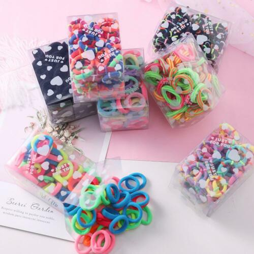 50pcs nette bunte elastische Gummistirnband-Haar-Zusätze für Mädchen-Satz