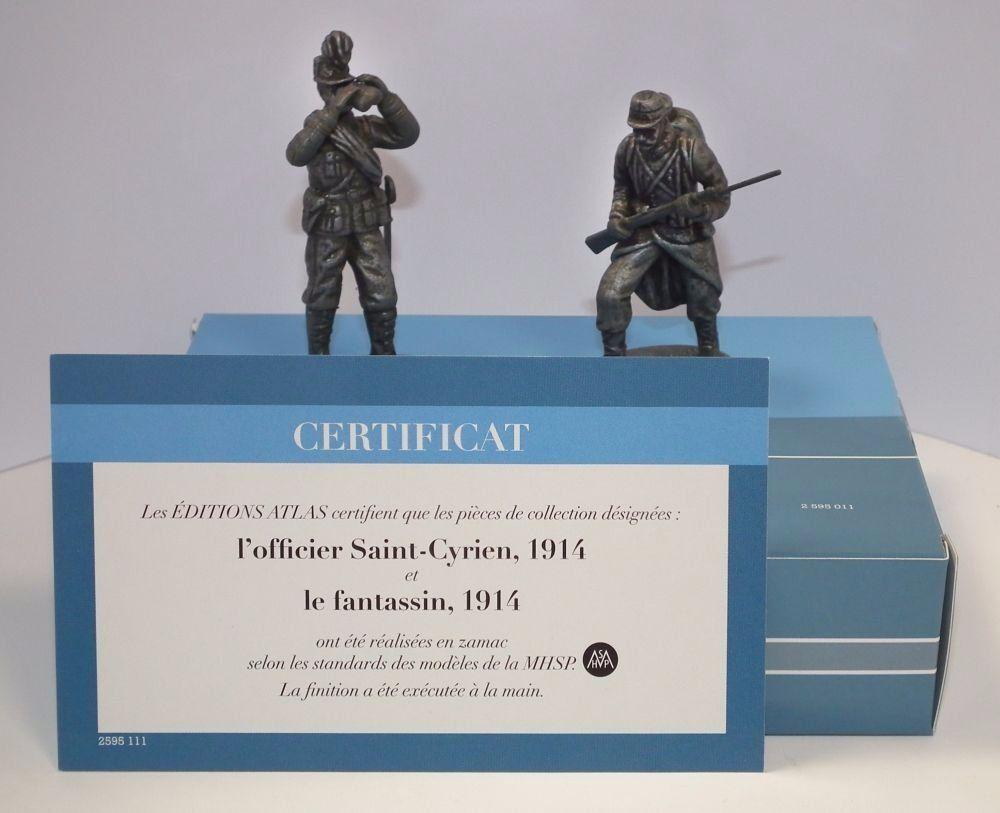 World World World War 1 (WW1) Metal Figures Officer and Infantryman 1914 1/24 Scale 34b616