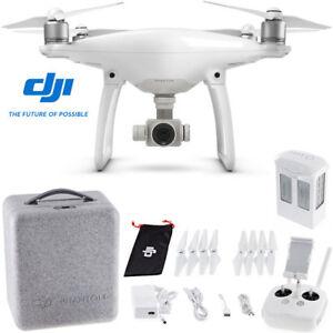 DJI-Phantom-4-Quadcopter-Drone-Standalone-or-Custom-Backpack-amp-Battery-Bundle