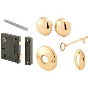 Prime-Line Products E 2437 Vertical Trim Lock Set, 2-1/2 in. Backset, Cast Steel