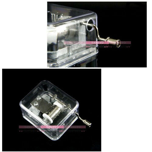 Transparent Hand Crank Music Box Laputa Castle In the Sky Carrying You Best Gift