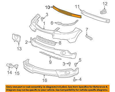 Acura HONDA OEM 07-09 RDX Bumper Face-Foam Impact Absorber Bar 71170STKA00
