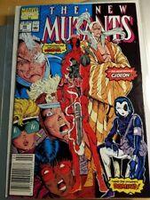 New Mutants 98, 1st Deadpool and Domino, VF, Marvel, X-Men, Liefeld