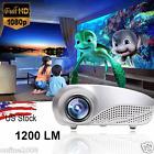 Home Multimedia Theater Cinema LED Projector HD 1080P AV TV VGA USB HDMI SD Hot