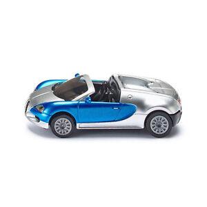 Siku-1353-Bugatti-Veyron-Grand-Sport-CABRIO-ARGENTO-Blu-blister-NUOVO