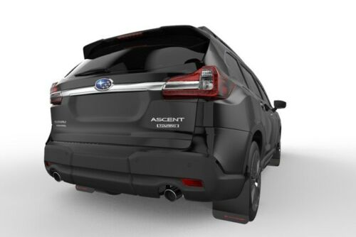 Rally Armor UR Black Mud Flaps w// Grey Logo for 2018-2020 Subaru Ascent