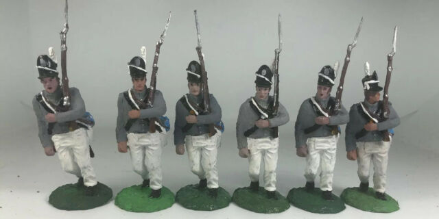 6 War Of 1812 Napoleonic Mexican Waterloo Painted Figure 1/32 Conte Metal Heads