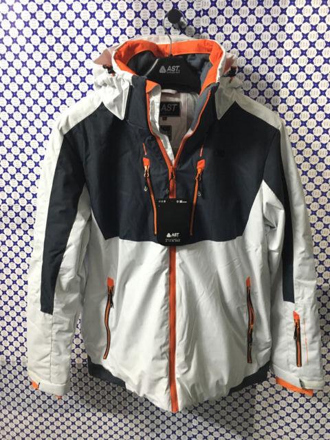 Jacket Skiing Astrolabio Man Zipper Hood Hook Plastic Weiß grau AB9G