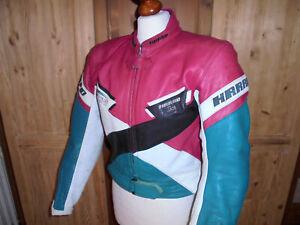 vintage HARRO Motorradjacke Bikerjacke german Lederjacke Rennweste oldschool 42