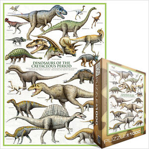 JIGSAW EG60000098 Eurographics Puzzle 1000 Pc Dinosaurs of the Cretaceous period