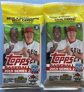 2019 Topps Series 2 Baseball Fat Pack 2 PACK LOT Tatis, Guerrero Jr SP,