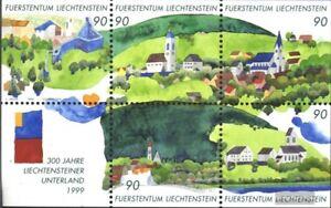 Liechtenstein-Block16-kompl-Ausg-postfrisch-1999-Unterland