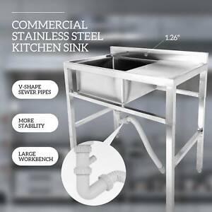 1-Compartment-Stainless-Steel-Commercial-Restaurant-Bar-Sink-Kitchen-Prep-Sink