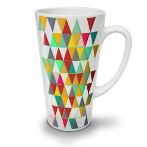 Geometric Stylish NEW White Tea Coffee Latte Mug 12 17 oz | Wellcoda
