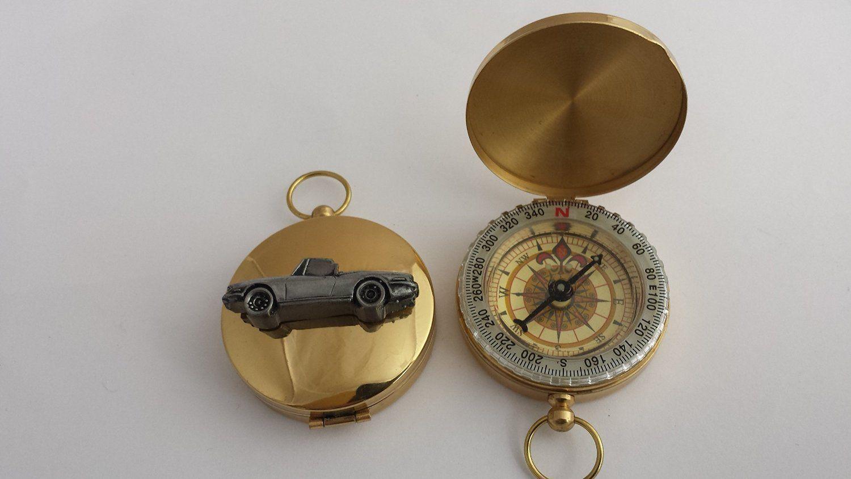 Mini un COOPER REF310 Effet Étain Emblème voiture sur un Mini golden compass e3035b