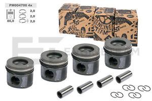 4x Kolben satz PM004700 DN 86,0 mm KH 48,42 mm CITROEN FORD 2,2 TDCi Standardmaß