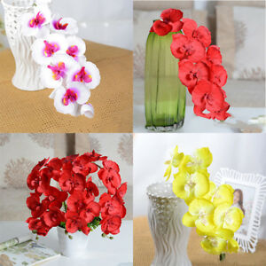 Image Is Loading Artificial Fake Butterfly Orchid Silk Flower Bridal Hydrangea