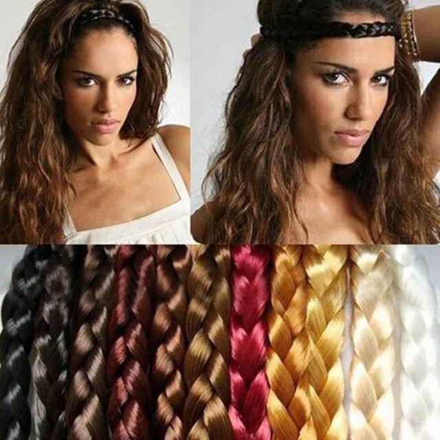 Boho Style Women Girls Party Braided Plaited Hair Accessories Headband Hairband
