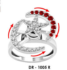 mothers day gift  silver Motion ring dancing ring spinner spinning Elliptic