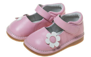 Little-Blue-Lamb-couine-Chaussures-ballerines-5223-Cuir-Rose-Fleur-NEUF