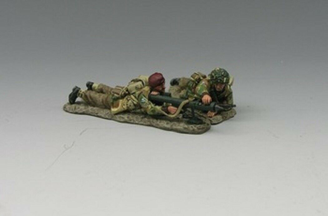King & Country OPERATION MARKET GARDEN MG018 Manning PIAT Retired Preowned