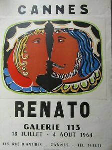 Renato / Affiche d'exposition Galerie 113 à Cannes 1964
