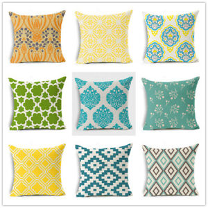 100% Quality Colorful Geometry Orange Blue Pattern Throw Pillow Case Cover Seat Cushion Cover For Sofa Home Capa De Almofadas 45x45cm Power Source