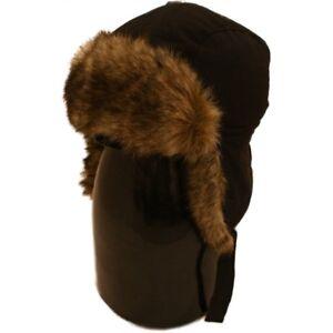 KIDS TRAPPER HAT BLACK FAUX FUR WATERPROOF PADDED S   M or L   XL ... 3b5e82455c4
