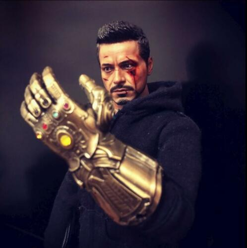"""1//6 The Infinity Glove Gauntlet Mighty Key Chain for 12/"""" Figures Hot Toys"""