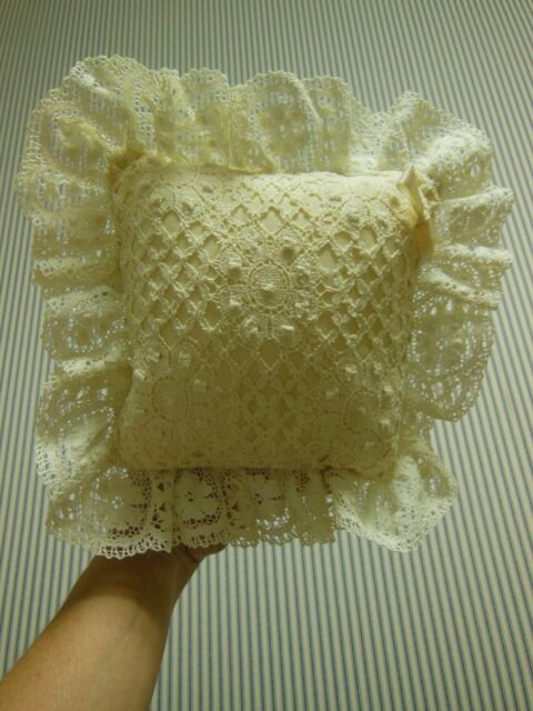 Peacock Alley Ring Bearer Pillow, Off White Color
