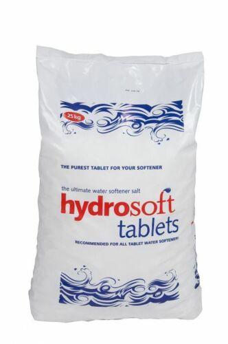 2 x 25KG BorsaHYDROSOFT Salt Tabletper tutti i addolcitore d/'acquaFCC Grado Alimentare