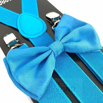 Suspender and Bow Tie Children Burgundy Set Wedding Formal Wear Accessories