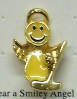 Golf Smiley Angel With Gold Club Lapel Or Hat Pin In Gold Plate, By Osc,
