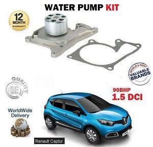 FOR RENAULT CAPTUR 1.5 DCI 90BHP 2013-> NEW WATER PUMP + GASKET KIT
