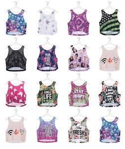 35eaf7aa84da Girls Ladies Crop Top Vest Summer Sleeveless Top Party Fashion Fresh ...