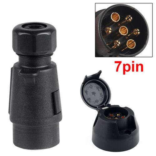 TRAILER LIGHTS UK SOCKET 12N TYPE FOR CARAVAN 7 PIN TOWING ELECTRICS PLUG