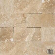 MSI Natural Stone 8PC LOT Subway Mosaic Ivory Travertine 3x6 Honed Beveled Tile