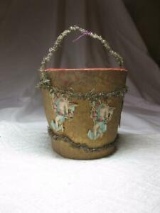 German-Angel-Dresden-Sebnitz-Candy-Container-Pail-Ornament-1910-Christmas