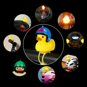 Cartoon-Duck-Bike-Front-Head-Light-Headlamp-Bicycle-Bell-Handlebar-Flashing-Lamp