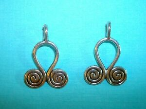 4pcs Chandelier Spiral Earring Findings Necklace Connector Charm Pendant Gold