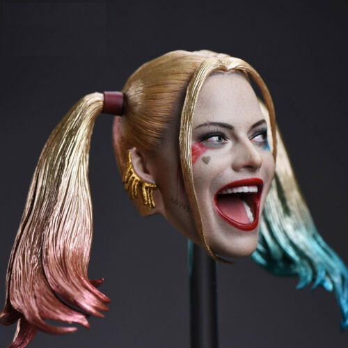 "1//6 Harley Quinn Head Sculpt Suicide Squad For 12/"" TBLeague PHICEN Figure U.S.A."